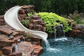 backyard pool with slides.  Pool Byos Giant Pool Slides In Backyard Pool With Slides O