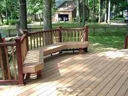 wood deck bench build deck benches plans custom decks in beach bench interior to railing build wood deck bench