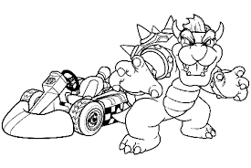 Small Picture Bowser Mario Kart Coloring Page Coloring Home