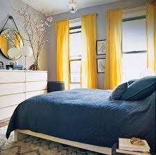 light gray walls, robin's egg blue bedding, bright yellow curtains, white  dresser. love the colors! | Now I lay me down to sleep | Pinterest | Yellow  ...