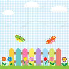 Small Picture Colorful Fence With Flowers And Butterflies Royalty Free Cliparts