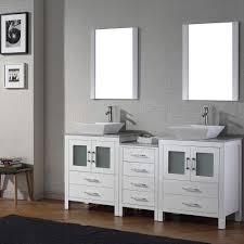 Virtu Usa Dior 66 Inch Double Sink Vanity Set In White Free