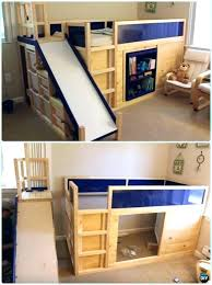 conventional child bunk bed with slide loft and tent childrens ikea twin various