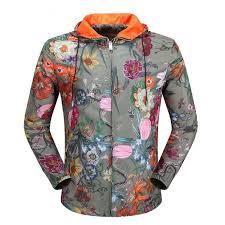 gucci 07211630 gucci men s classic colorful flowers design casual cotton casual jacket coat m