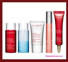 receive a free 7 pc gift with your 125 clarins purchase
