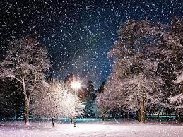 Snowy Winter Night Scenes Wallpaper on ...