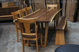 natural edge furniture. stunning live edge walnut kitchen table or desk with bruched stainless legs natural furniture