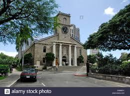 The Kawaiahao Church - The Stone Church in Honolulu, island of Oahu, in the