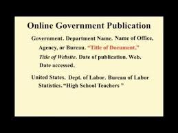 Mla Style Documents Mla Citing Government Website Mla Style Guide 8th Edition