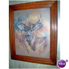 >buck deer picture print home interiors framed 1978 signed vintage on  buck deer picture print home interiors framed 1978 signed vintage