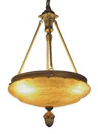 waldorf astoria alabaster chandelier dish pendant light