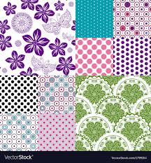 Colorful Patterns Interesting Set Vintage Colorful Patterns Royalty Free Vector Image