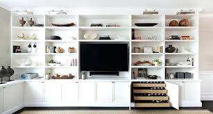 tv built in living room shelves with flat panel and picture lights inside ins for idea 4 living room built ins tv m51 room