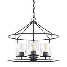 matte black four light pendant hover to zoom