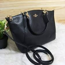 where can i coach small kelsey satchel in pebble leather black free delivery womens fashion