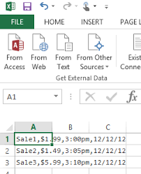 You can do this either by cutting and pasting from a word or text document, or by typing your list in, line by line. Excel 2013 How To Paste Comma Separated Values