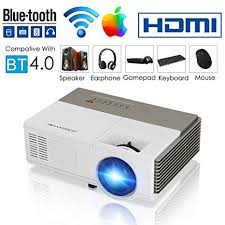 Smart Bluetooth WiFi Wireless Mini Projector LED ... - Amazon.com