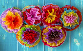 Paper Flower Tissue Paper Cinco De Mayo Decorations Fiesta Tissue Pom Paper Flowers Mexican Party Supplies 16inch Set Of 10