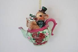 Gisela Graham Christbaumschmuck Teekanne Kaffeekanne Mit