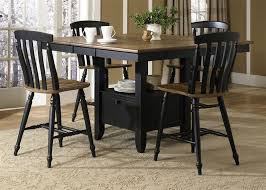 black finish led 7 pc counter height dining set view larger