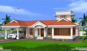 style single floor house design kerala