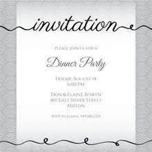 dinner invitation sample dinner party invitation templates free greetings island