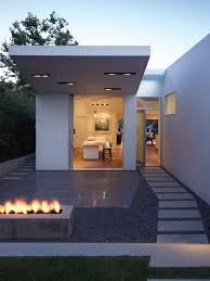 Small Picture White Color Small Summer House Design With Pathway Concrete Pavers