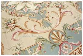 pastel blue ivory pink area rug carpet free ship french aubusson rugs antique