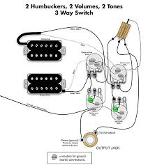 volume tone wiring image wiring diagram 2 hum 2 vol 2 tone 3 way version 4 photo by zakkwyldefan79 on 2 volume humbuckers