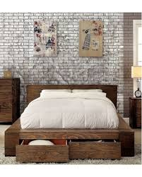 King Sized Bedroom Furniture California King Size Bed Rustic Natural ...