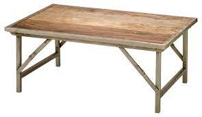 campaign coffee table industrial