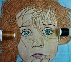 LuAnn Kessi: Portrait Quilt........Completed & Bottom Line Black for her eyes. Adamdwight.com