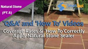 how to apply natural stone sealer