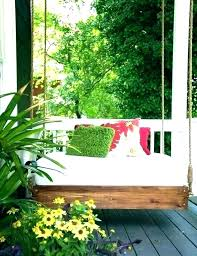 outdoor hanging bed plans diy beds for porch decorating pretty po outdoor hanging bed