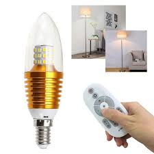 e14 5w led chandelier candle light bulb spotlight with remote control 220v