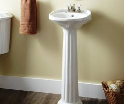 bathroom pedestal sink ideas