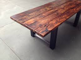 reclaimed wood dining table bench