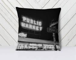 Small Picture Shopping at Pike Place Market Notecard Seattle Washington