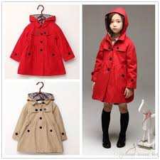 baby girl trench coat removable hooded jacket european solid cotton autumn winter windproof whole kid coats outwear girls clothing hot trench coat