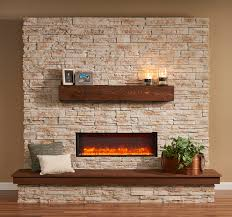 built in linear electric fireplace image