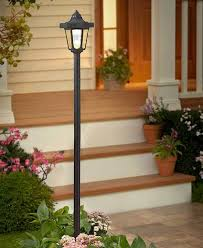 Small Picture Solar lamp post garden yard lawn patio walkway path light outdoor