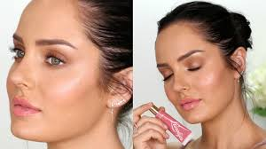 how to get creamy dewy skin natural glow makeup tutorial
