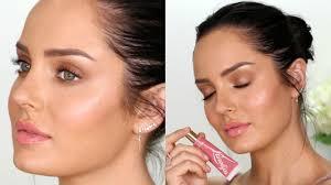 how to get creamy dewy skin natural glow makeup tutorial