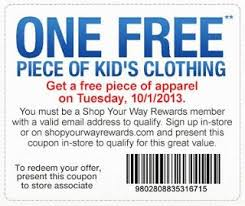 One Free Piece Of Kids Clothing At Sears Outlet Stores In