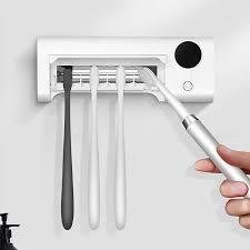 Xiaomi HIGOLD Giá đỡ bàn chải đánh răng thông minh Máy tiệt trùng Tường UV  Khử trùng Bàn chải đánh răng Giá đỡ chất khử trùng