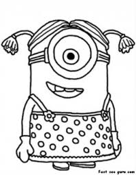 Small Picture Printable disney Minions Coloring Page for kids Printable