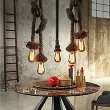 industrial lighting diy. diy art hemp rope edison pendant light hanging lamp fixtures style loft industrial lighting vintage lampe luminaire diy