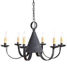 Image Chandeliers Pennycress Punched Tin Chandelier My Uncle Buck Punched Tin Lightingfarmhouse Lighting