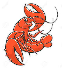 Funny Cartoon Red Lobster Royalty Free ...