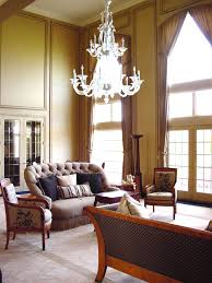 Two Story Living Room Curtains Palladian Window Treatments Living Room Traditional With Arched